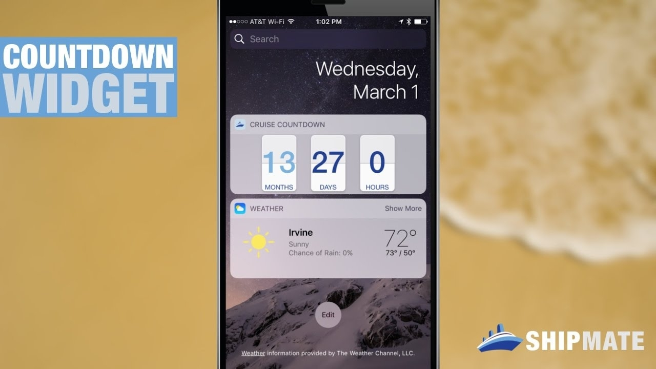 Cruise Countdown Widget On Ship Mate Ios & Android Impressive How Do I Set Up A Countdown On Iphone