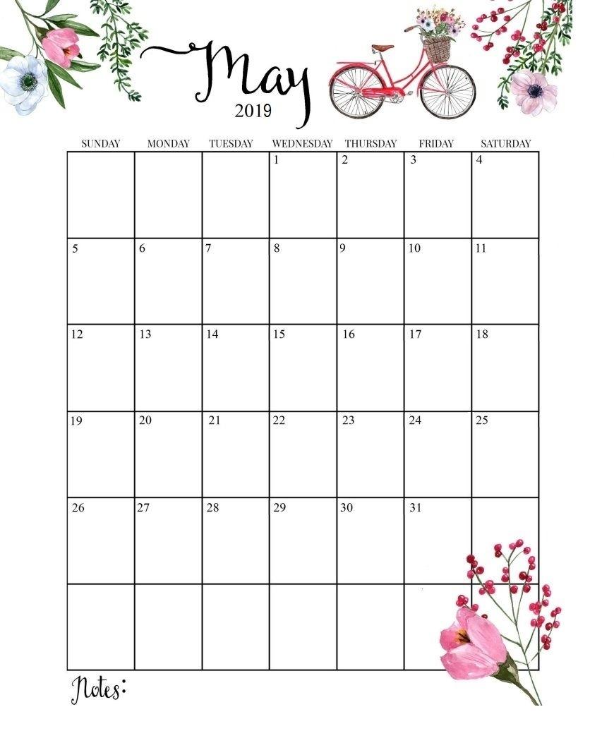 Cute 2019 Calendar Printable Month Calendarmay 2019 Calendar Free Month At Glance Calendar