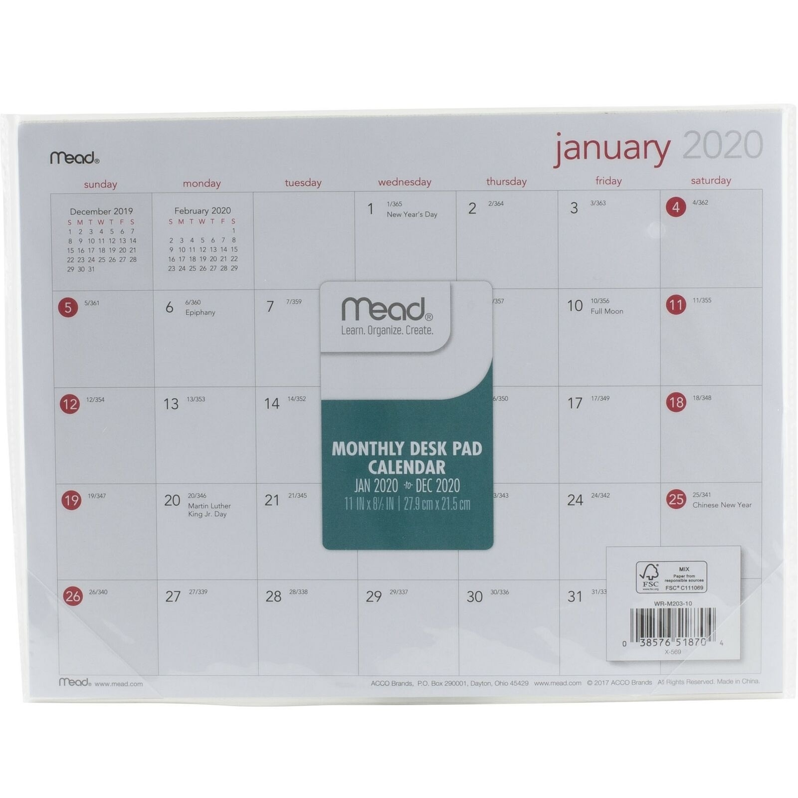 "Details About Mead 2020 Monthly Desk Pad Calendar 11"" X 8.5"" Exceptional 14 X 8.5 Monthly Calendar"
