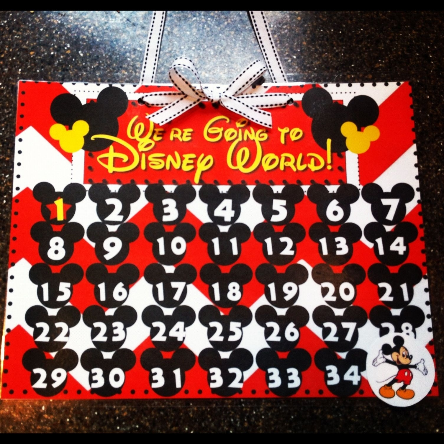 Disney Countdown Calendar- Free Printable | Disney Countdown Remarkable Printable Disney Countdown To 60 Calendar