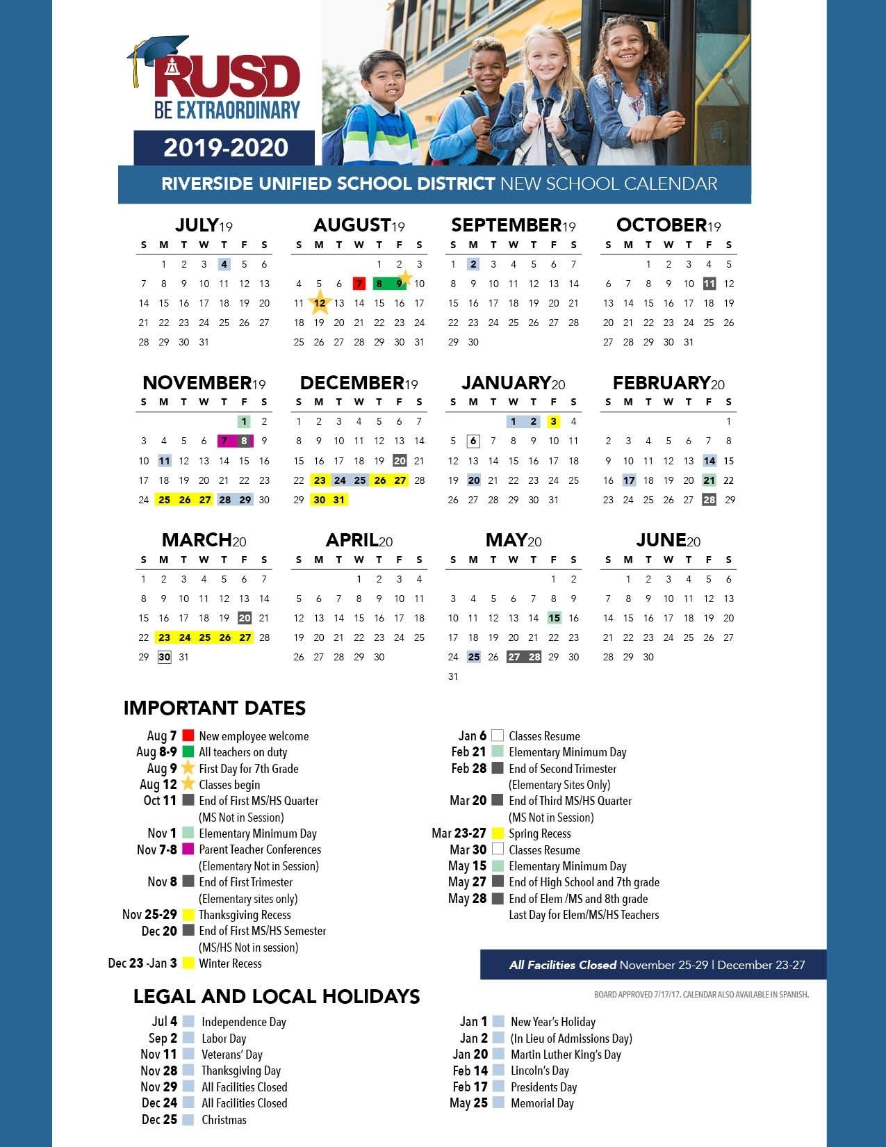 District Calendar - Riverside Unified School District Perky R-7 School District Calendar Jefferson County