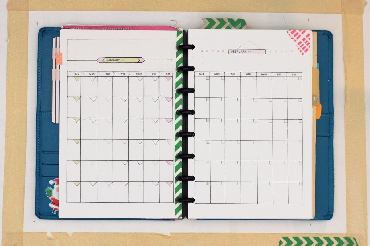 Diy Planner Impressive 5.5 X 8.5 Calendar Printable