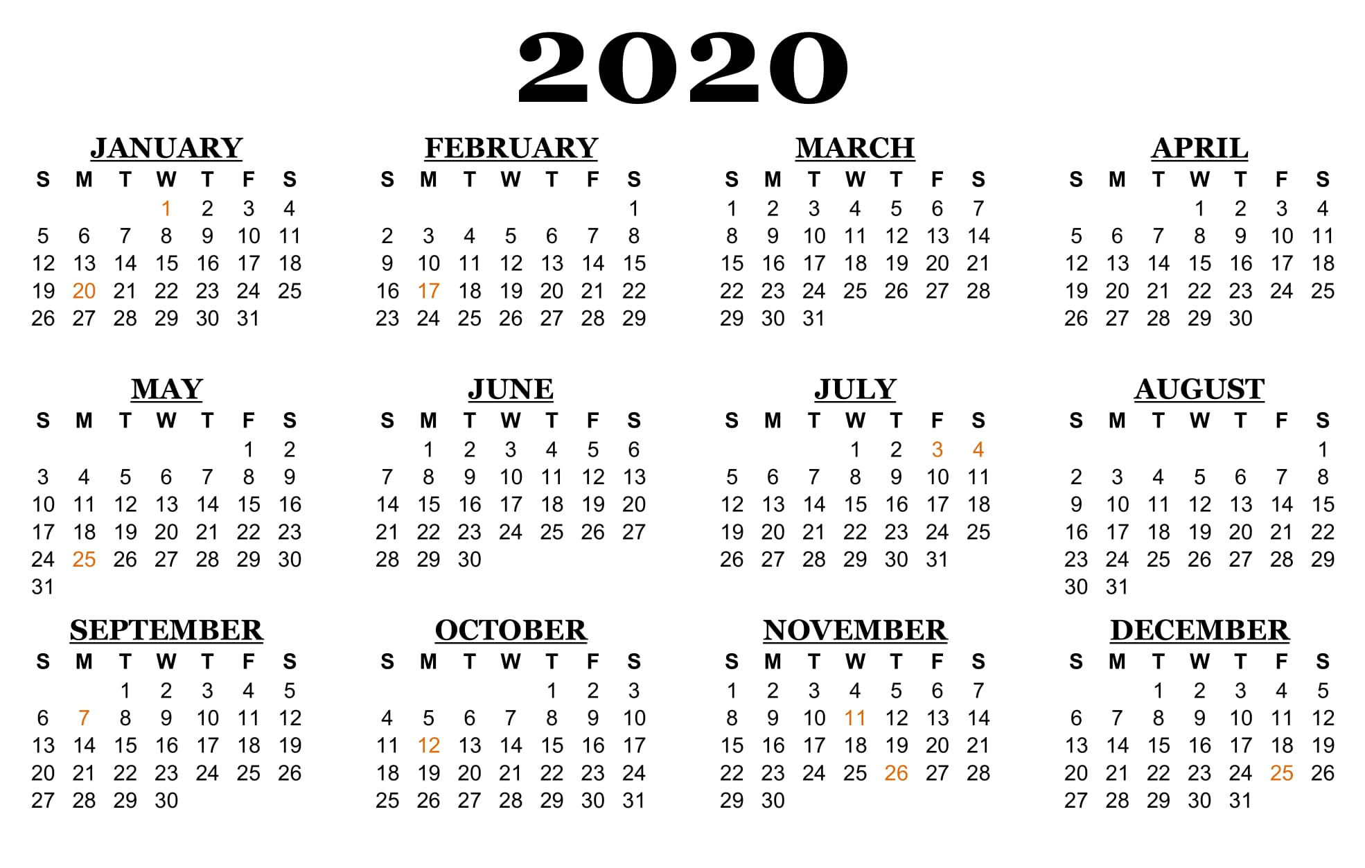 ❤️printable Calendar 2020 Templates With Nsw Public Nsw Calendar 2020 Free Printable