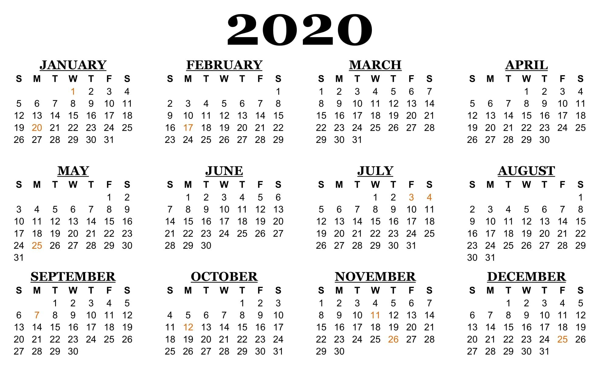 ❤️printable Calendar 2020 Templates With Nsw Public Printable Monthly Calendar 2020 Australia With School Holidays