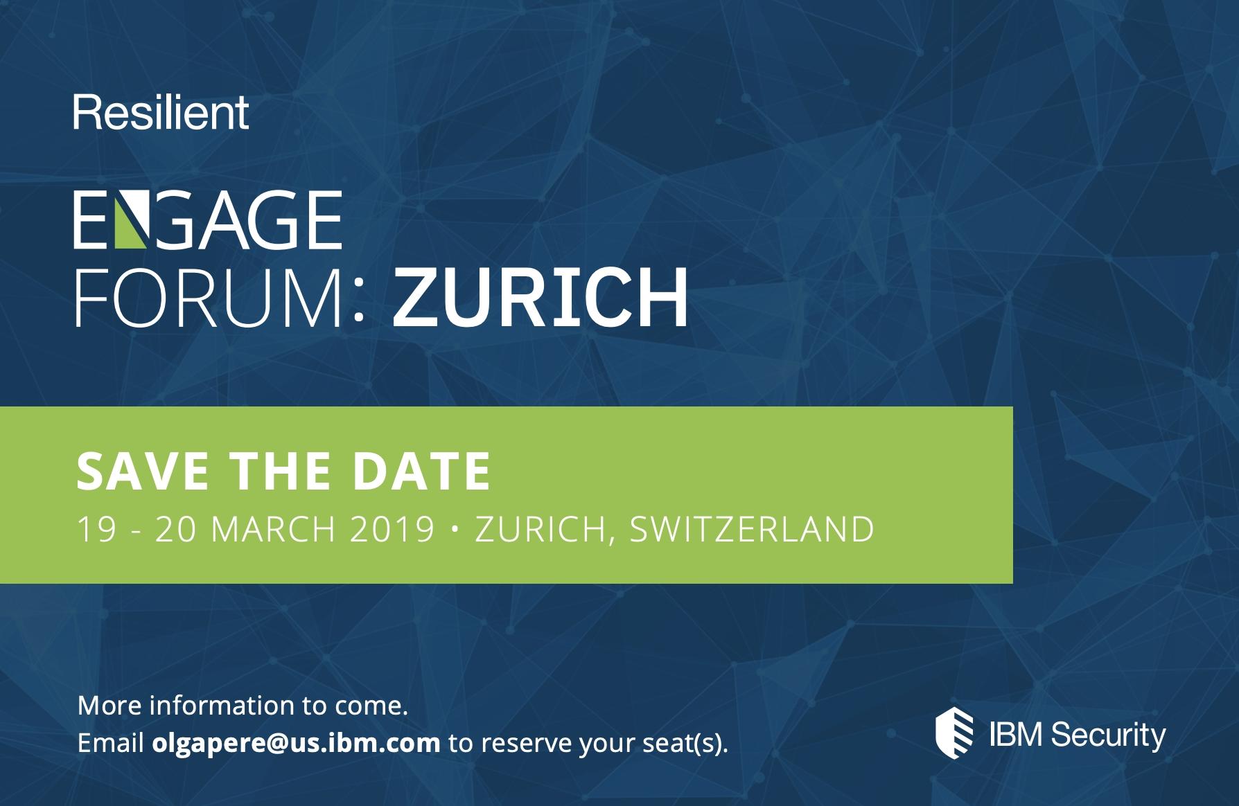 Engage Forum 2019: Zurich - Security Impressive How To Download Zurich Calendar