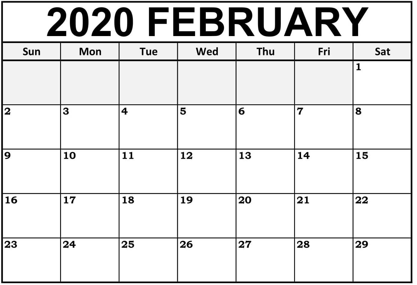 February 2020 Calendar Canada With Holidays Pdf - Set Your February 2020 Calendar Canada