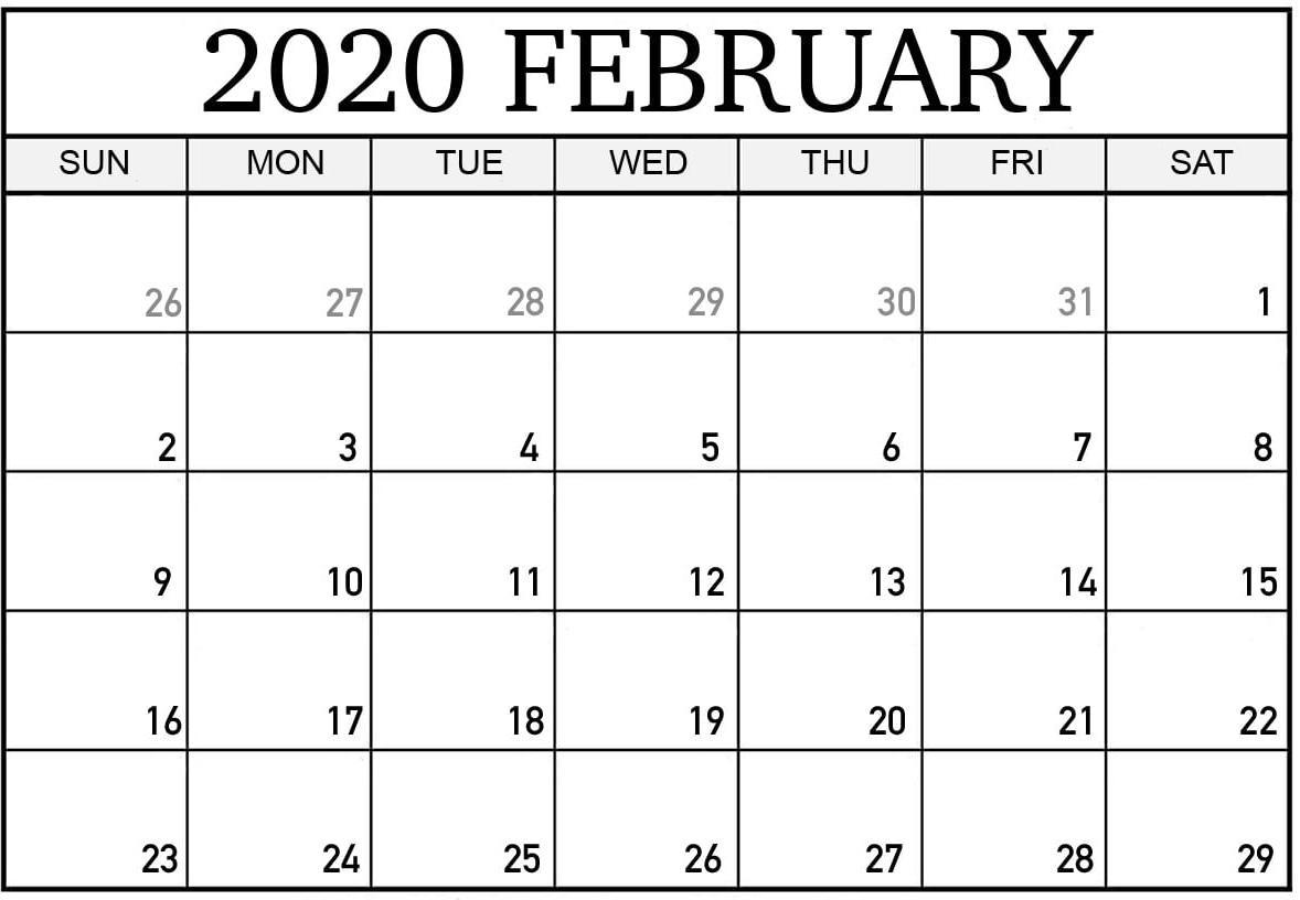 February 2020 Calendar Canada With Holidays Pdf - Set Your Incredible February 2020 Calendar Canada