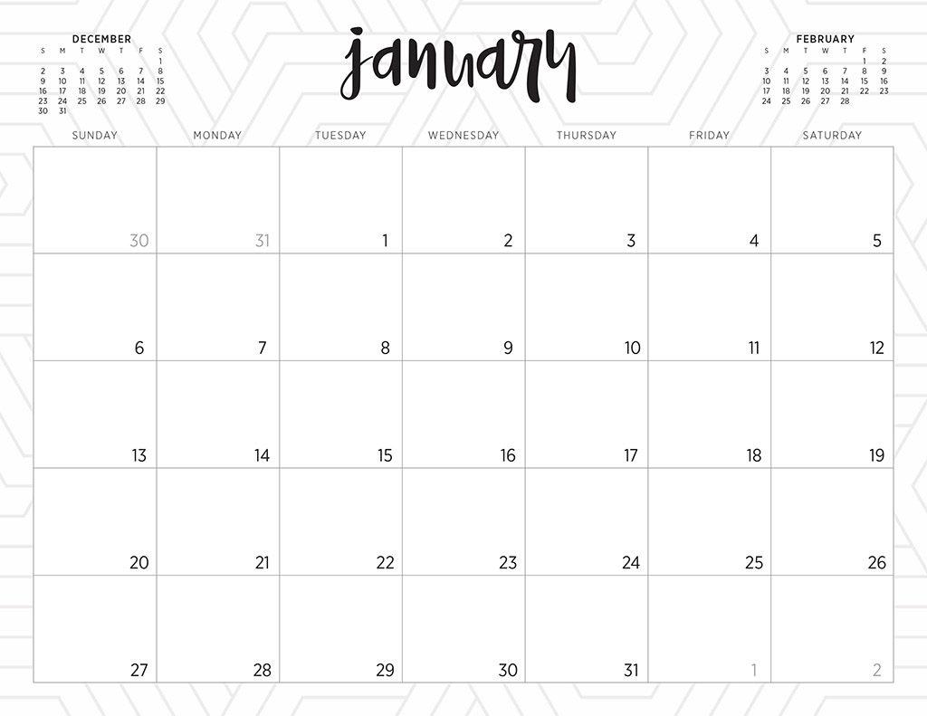 Free 2019 Printable Calendars - 46 Designs To Choose From! Free Printable Monthly Calendars Monday Start