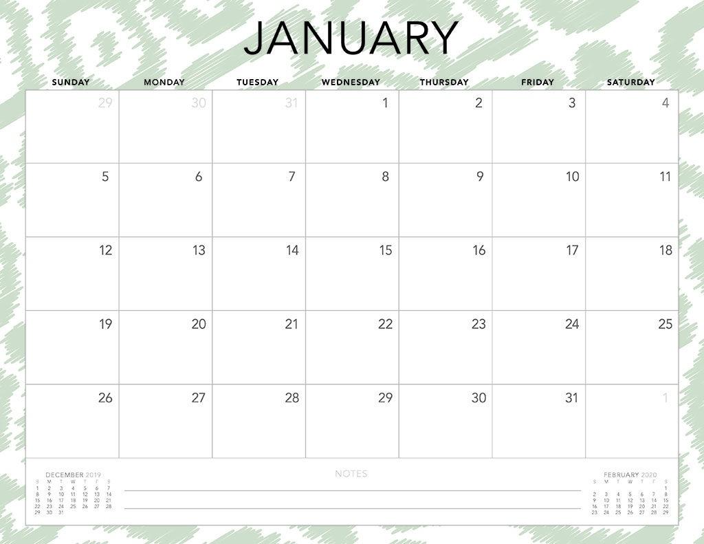 Free 2020 Printable Calendars - 51 Designs To Choose From! Extraordinary Free Printable 2 Page Calendar 2020