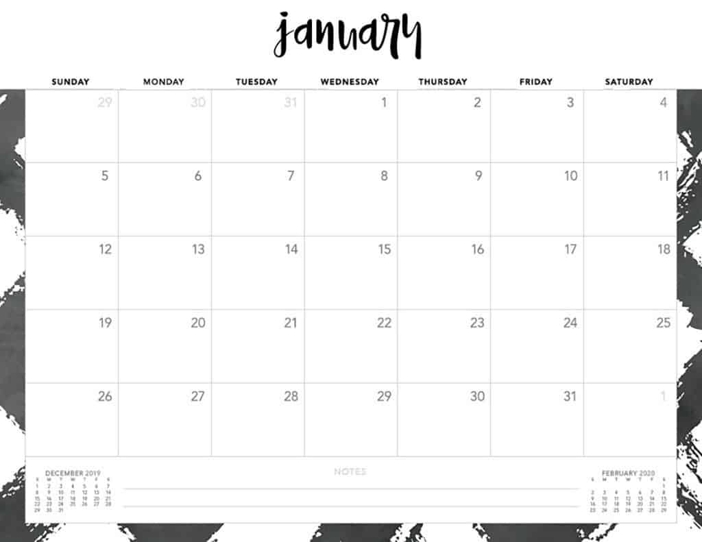Free 2020 Printable Calendars - 51 Designs To Choose From! Remarkable 2020 Monthly Calendar Monday Start