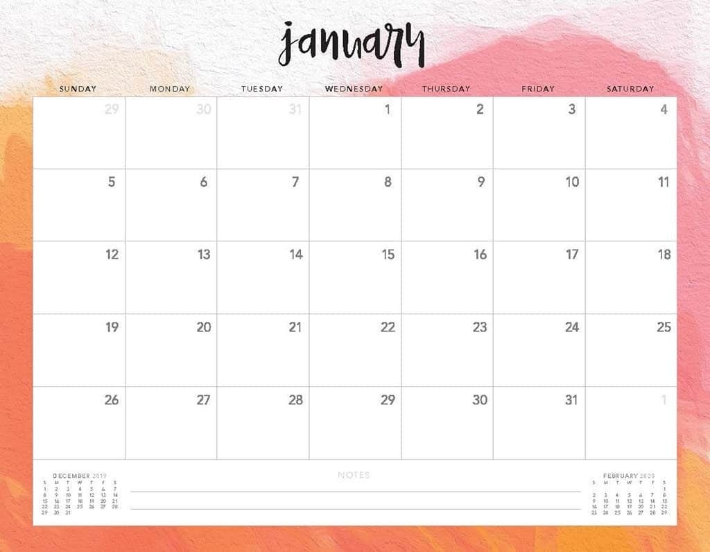 Free 2020 Printable Calendars - 51 Designs To Choose From! Remarkable Free Printable Calendar Templates 2020