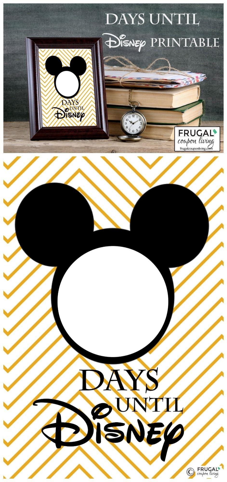 Free Countdown To Disney Printable   Disney Countdown Dashing Printable Count Down To Disney
