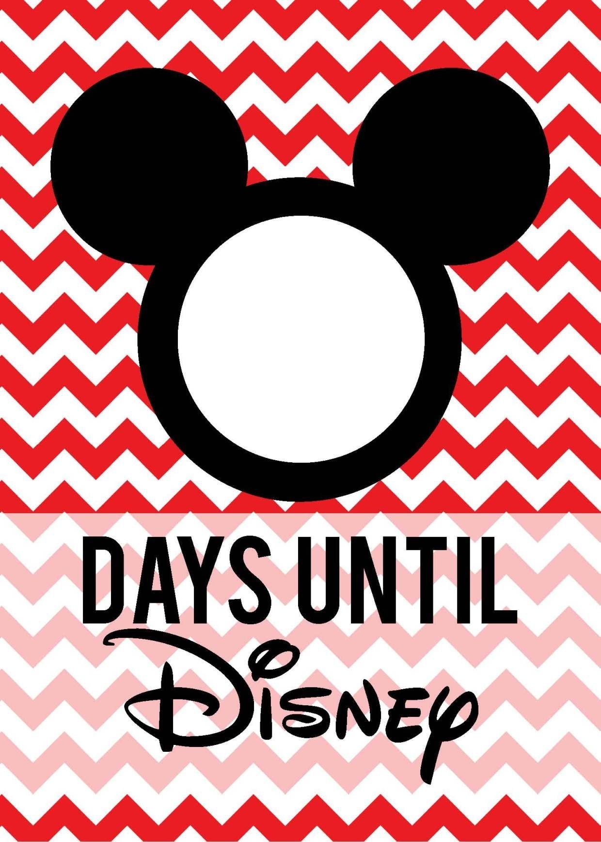 Free Download: Countdown To Disney   Disney Countdown Printable Count Down To Disney