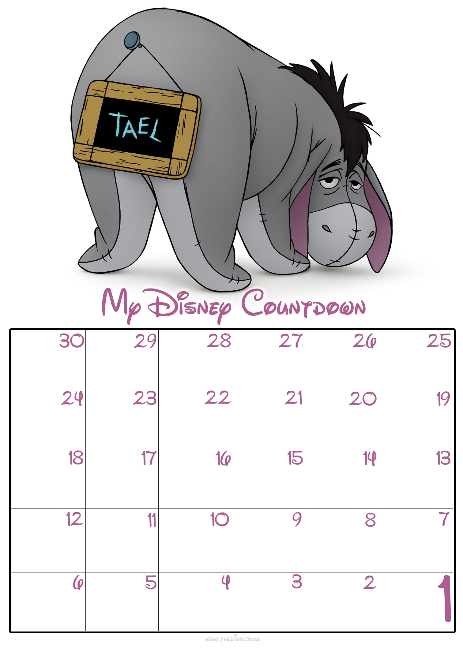 Free Download Free 30 Day Disney Countdown Calendar Remarkable Countdown Calendar For Desktop Free
