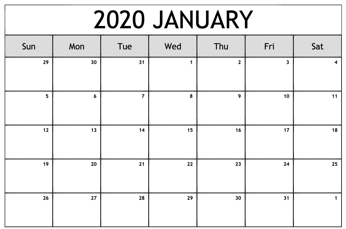 Free Editable January Calendar 2020 Blank Template Exceptional Microsoft Word Printable Calendar 2020