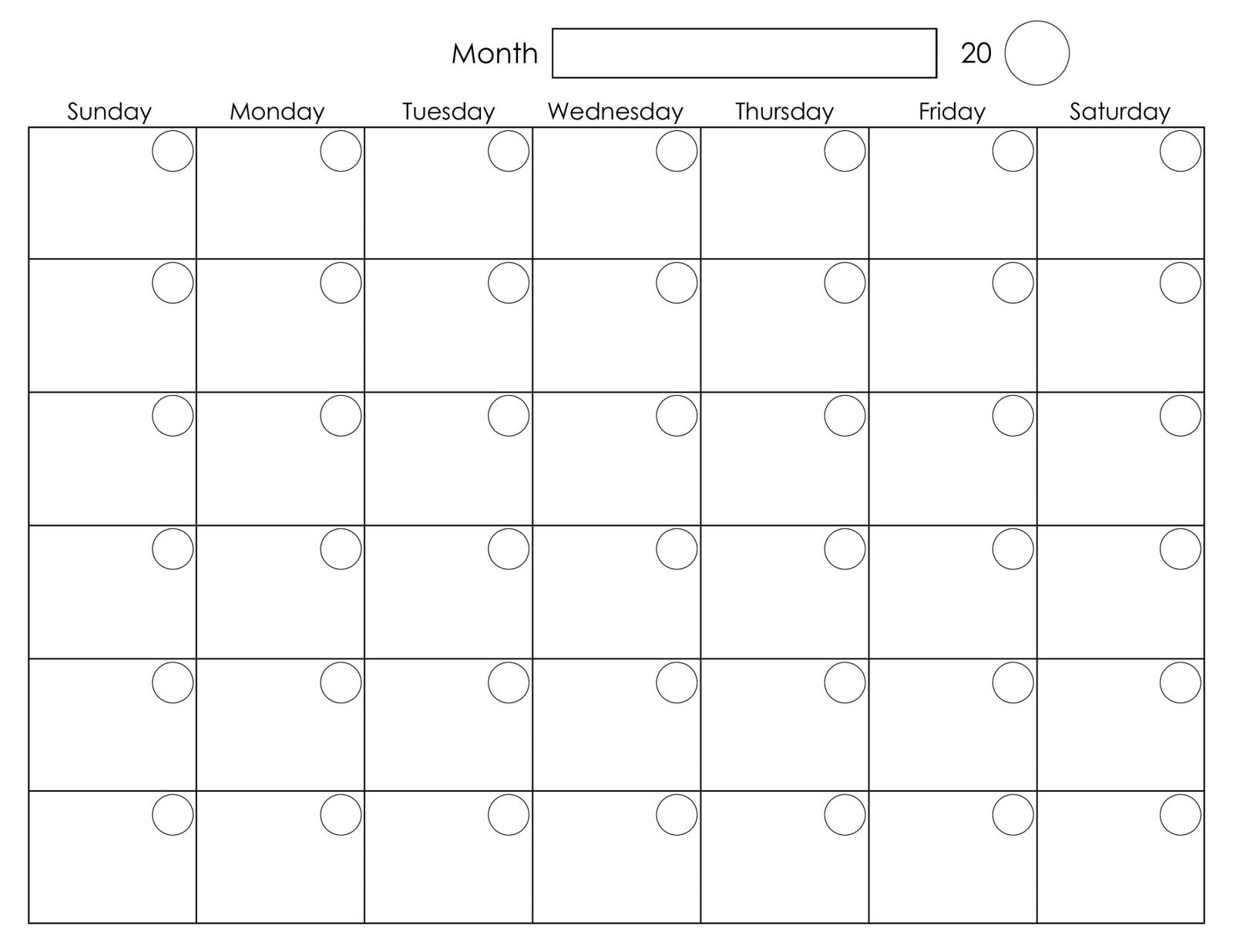 Free Printable 2020 Calendar Template Pdf, Word, Excel, Page Perky Calender To Print With Monday Start Date