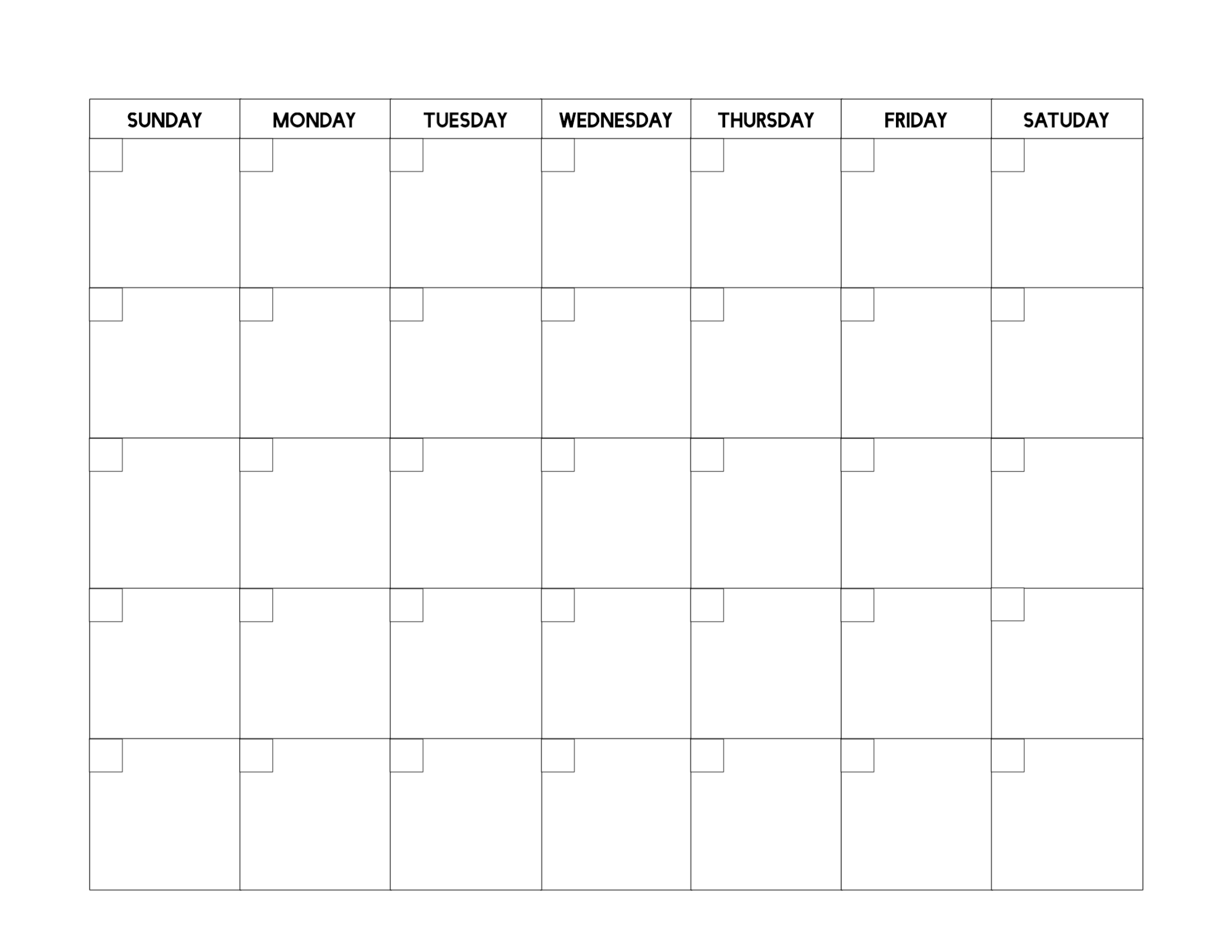 Free Printable Blank Calendar Template - Paper Trail Design Dashing Printable Calendar With Date Boxes
