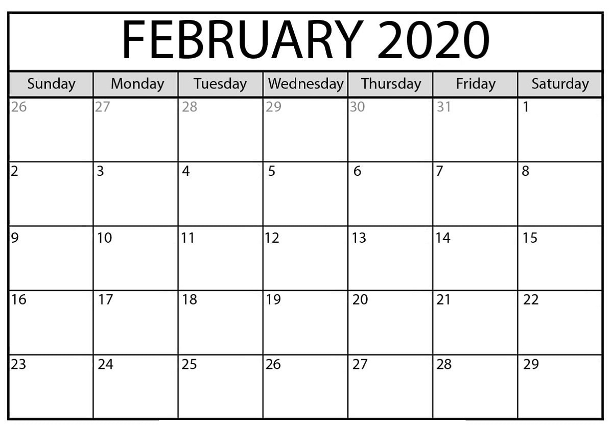 Free Printable Calendar Templates 2020 For Kids In Home Extraordinary Calendar Template 2020 Printable Free Black And White
