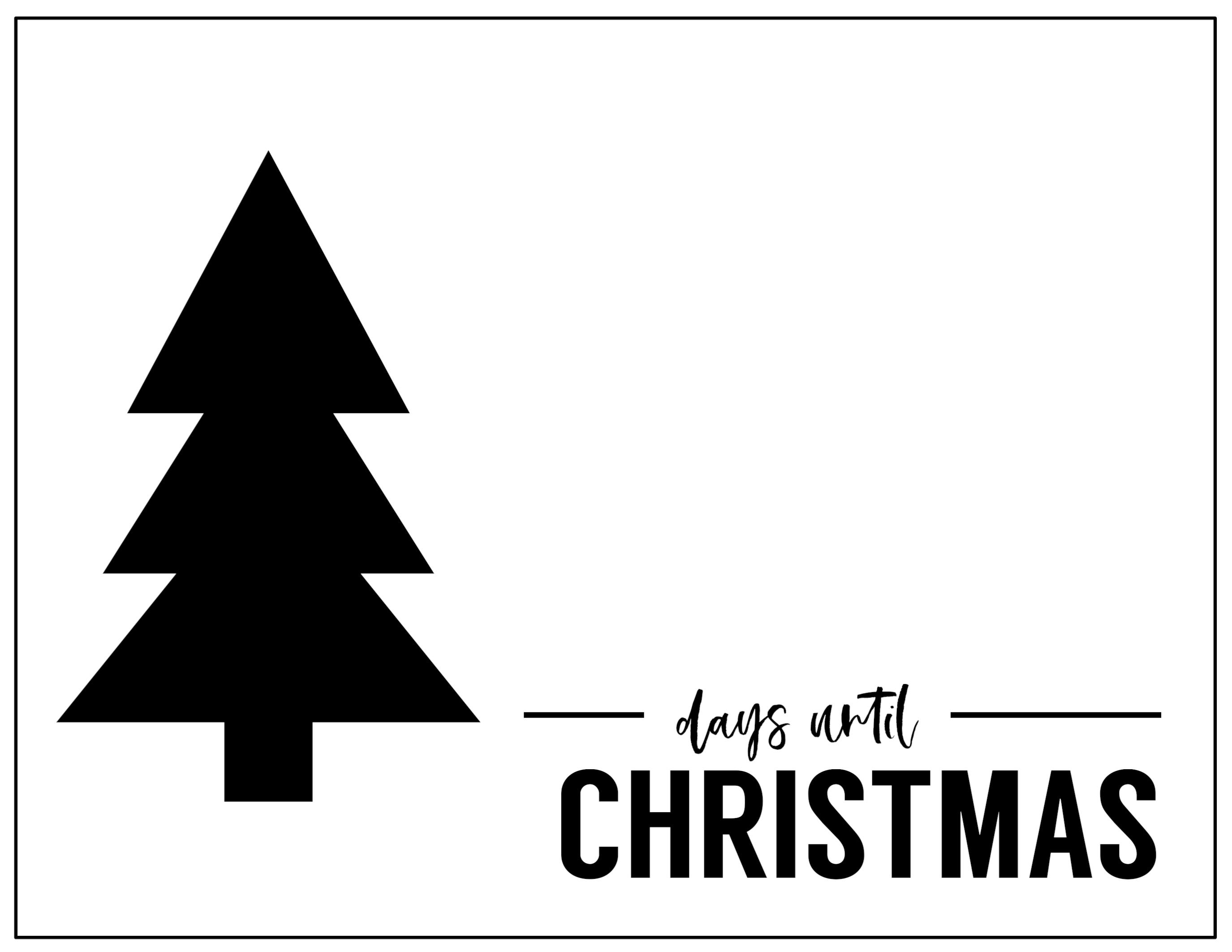 Free Printable Days Until Christmas Countdown - Paper Trail Xmas Countdown 2020 Clendar Printable