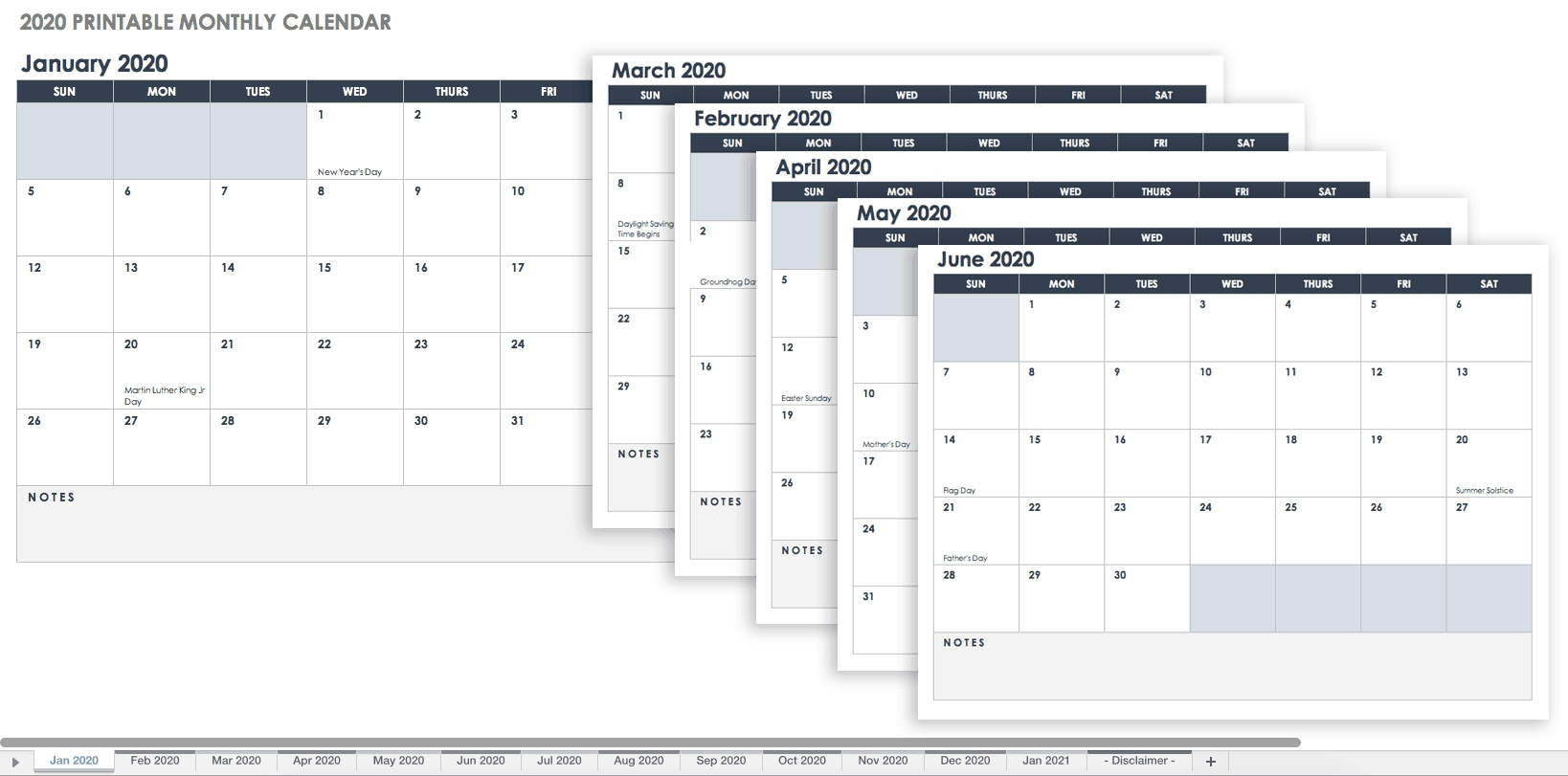 Free, Printable Excel Calendar Templates For 2019 & On Dashing Printable Calendar With Date Boxes