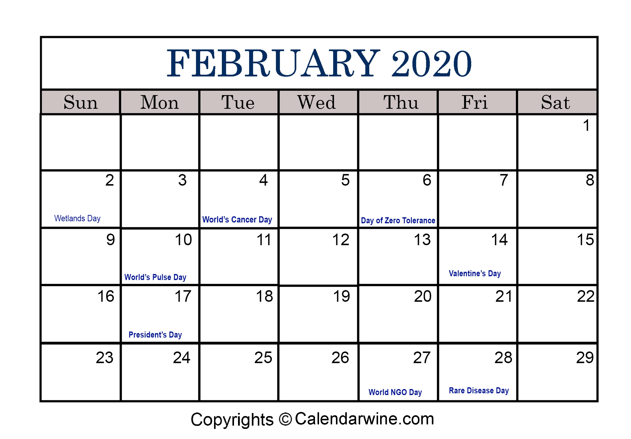Full List Of February Holidays 2020 For Usa Uk Canada Extraordinary 2020 Calendar With Jewish Holidays Pdf