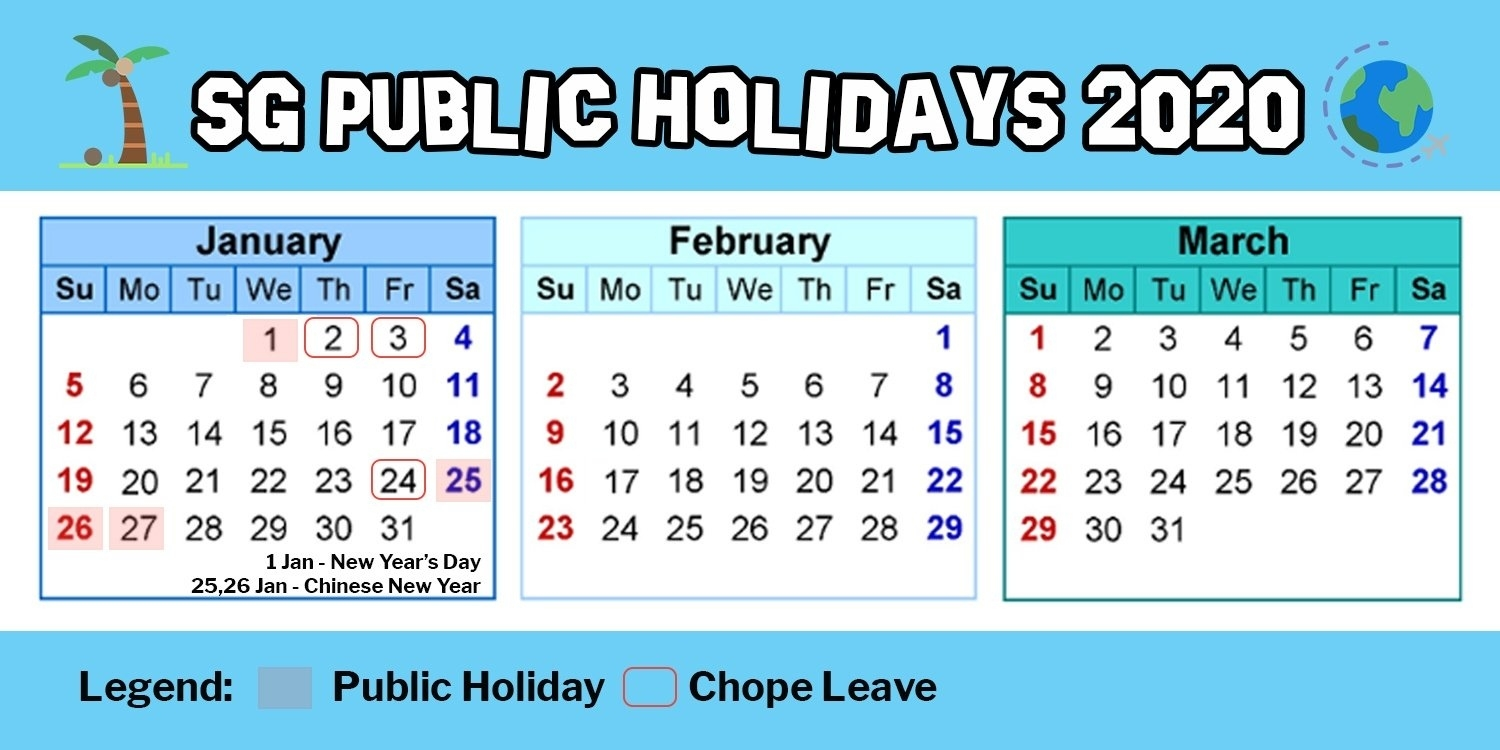 Hack Singapore Public Holidays In 2020 By Using 11 Days Of Year 2020 Calendar Singapore