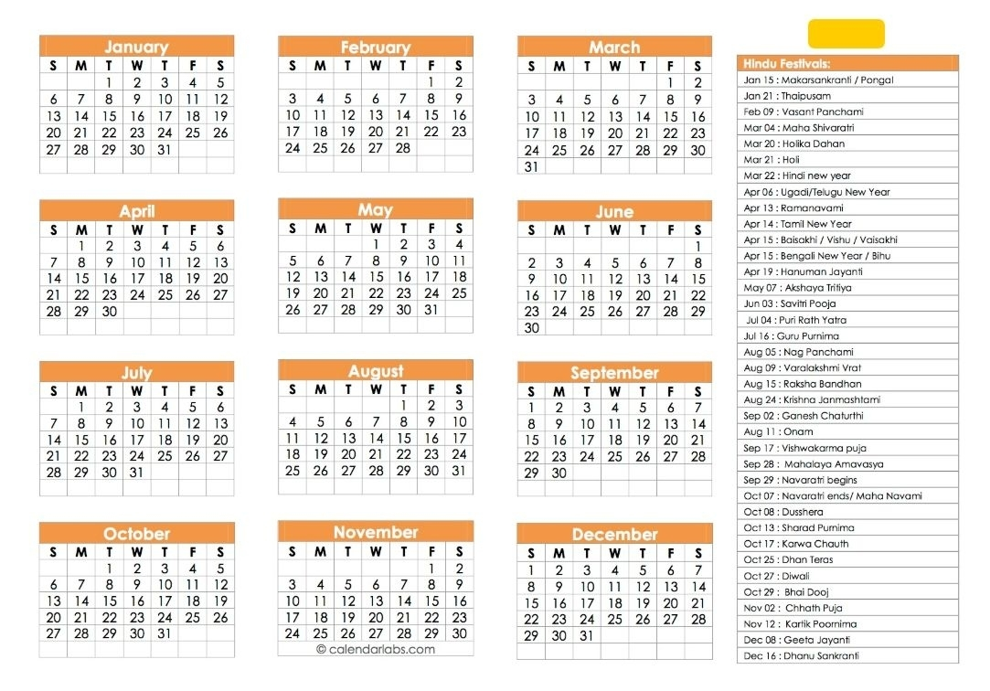 Hindu Calendar 2019 | Festivals, Tyohar, Panchang, Tithi Perky 2020 Calendar In Hindi