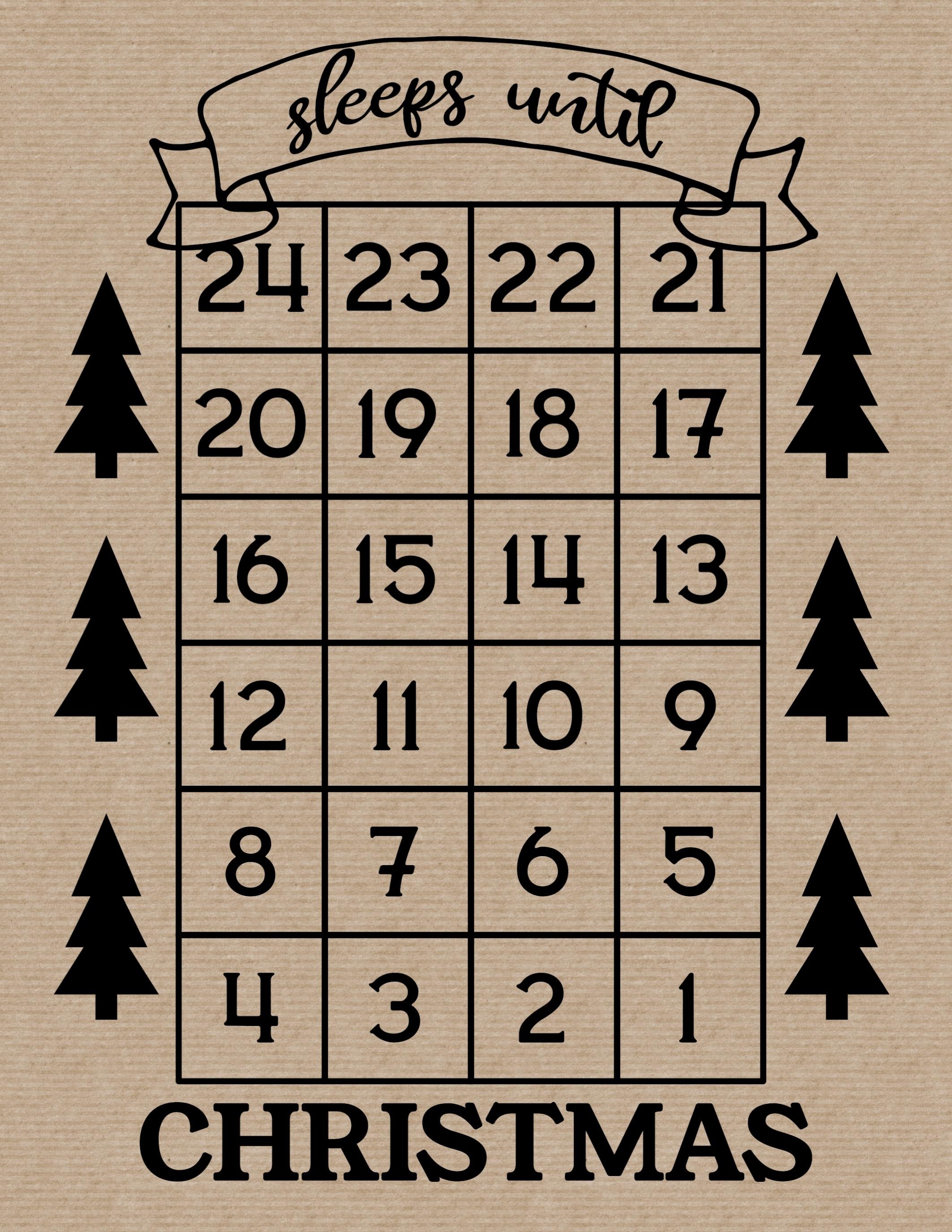 How Many Days Until Christmas Free Printable - Paper Trail Impressive Xmas Countdown 2020 Clendar Printable