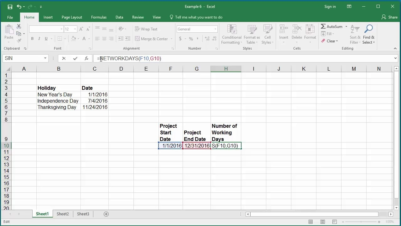How To Calculate Number Of Working Days Between Two Dates In Excel 2016 Remarkable Countdown Clock Without Weekends And Holidays