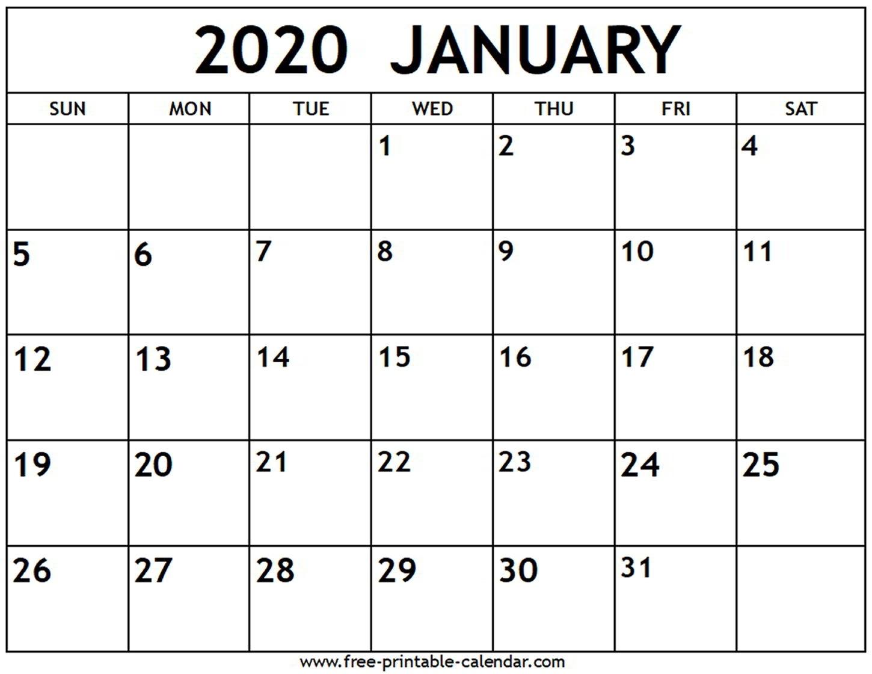 January 2020 Calendar - Free-Printable-Calendar Exceptional Microsoft Word Printable Calendar 2020