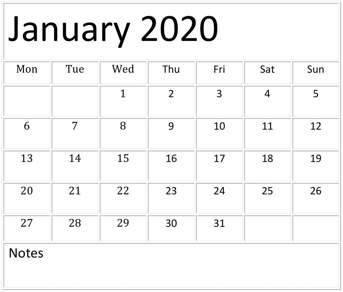 January 2020 Calendar Template For Google Sheets – Free 2020 Calendar Google Sheets