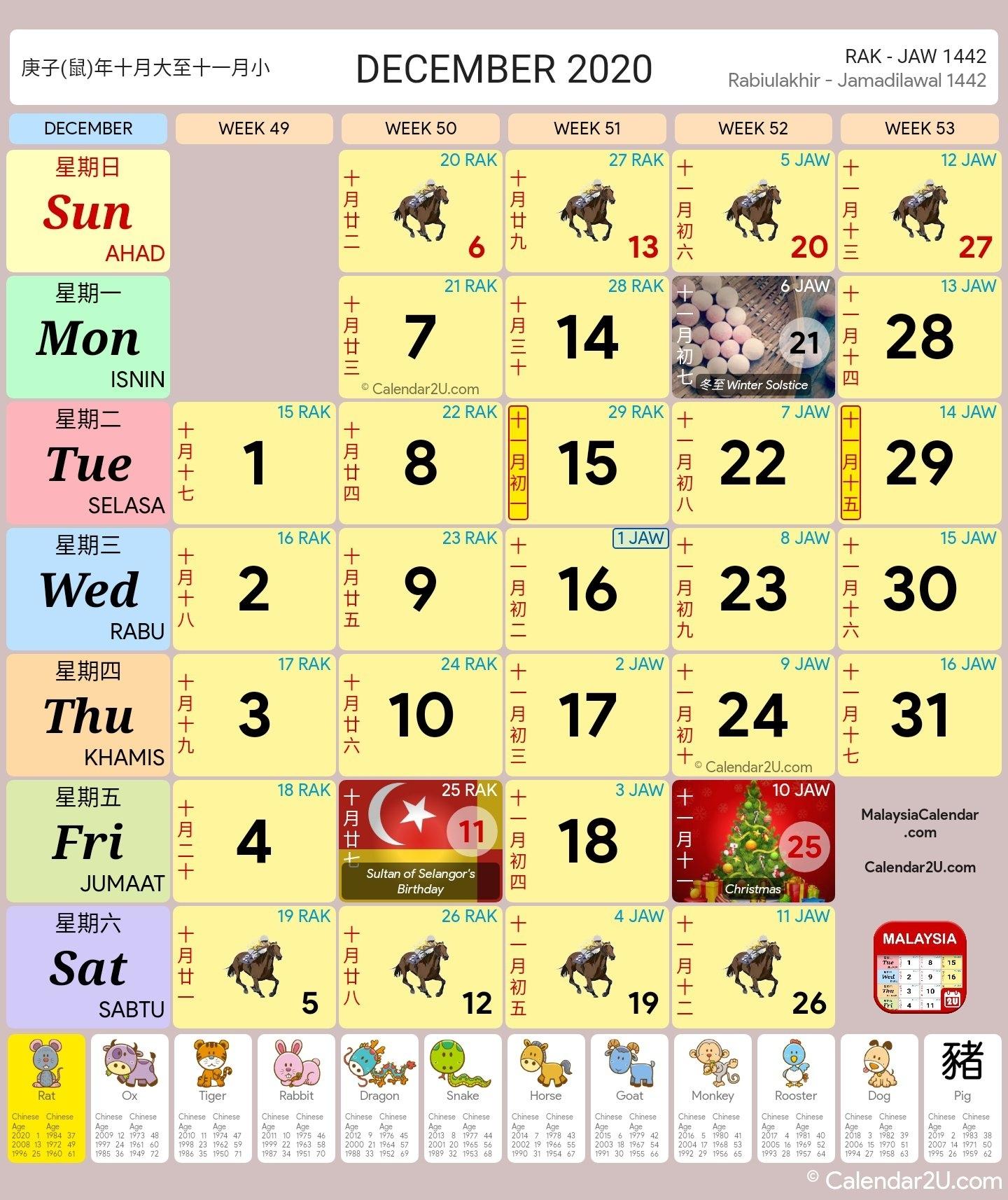 Malaysia Calendar Year 2020 (School Holiday) - Malaysia Calendar Remarkable Calendar 2020 Malaysia With School Holiday