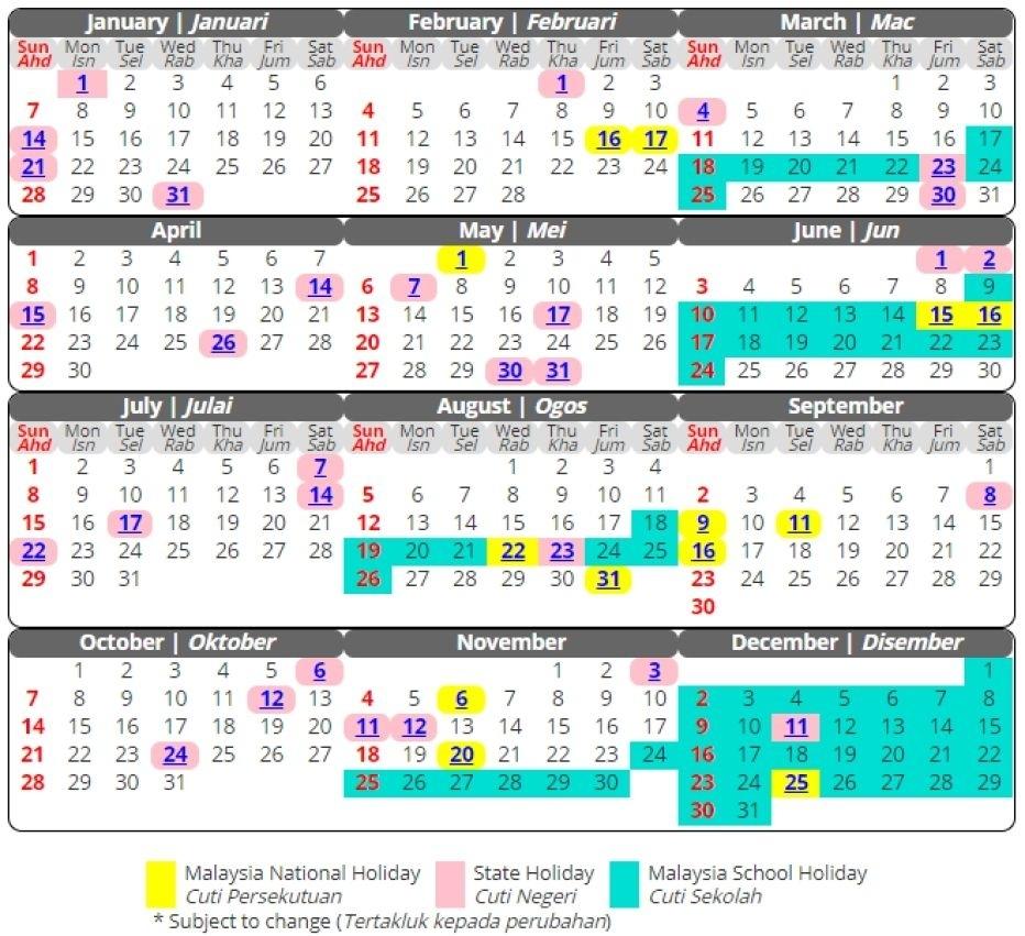 March 2019 Calendar Malaysia #march #march2019Calendar Extraordinary Malaysia School Academic Calendar 2020