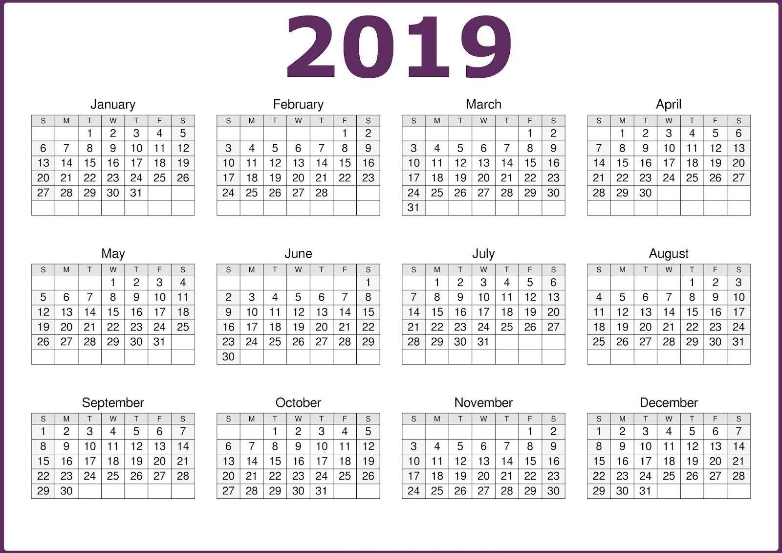 Microsoft Calendar Template 2019   Calendar 2019 Template Perky Calendar Template Months On One Page Word