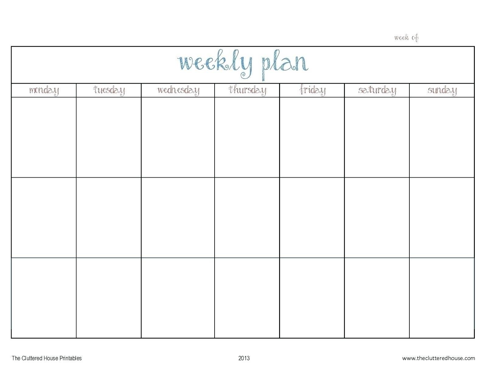 Monday Thru Friday Calendar Template | Ten Wall Calendar Dashing Blank Calendar Monday To Friday
