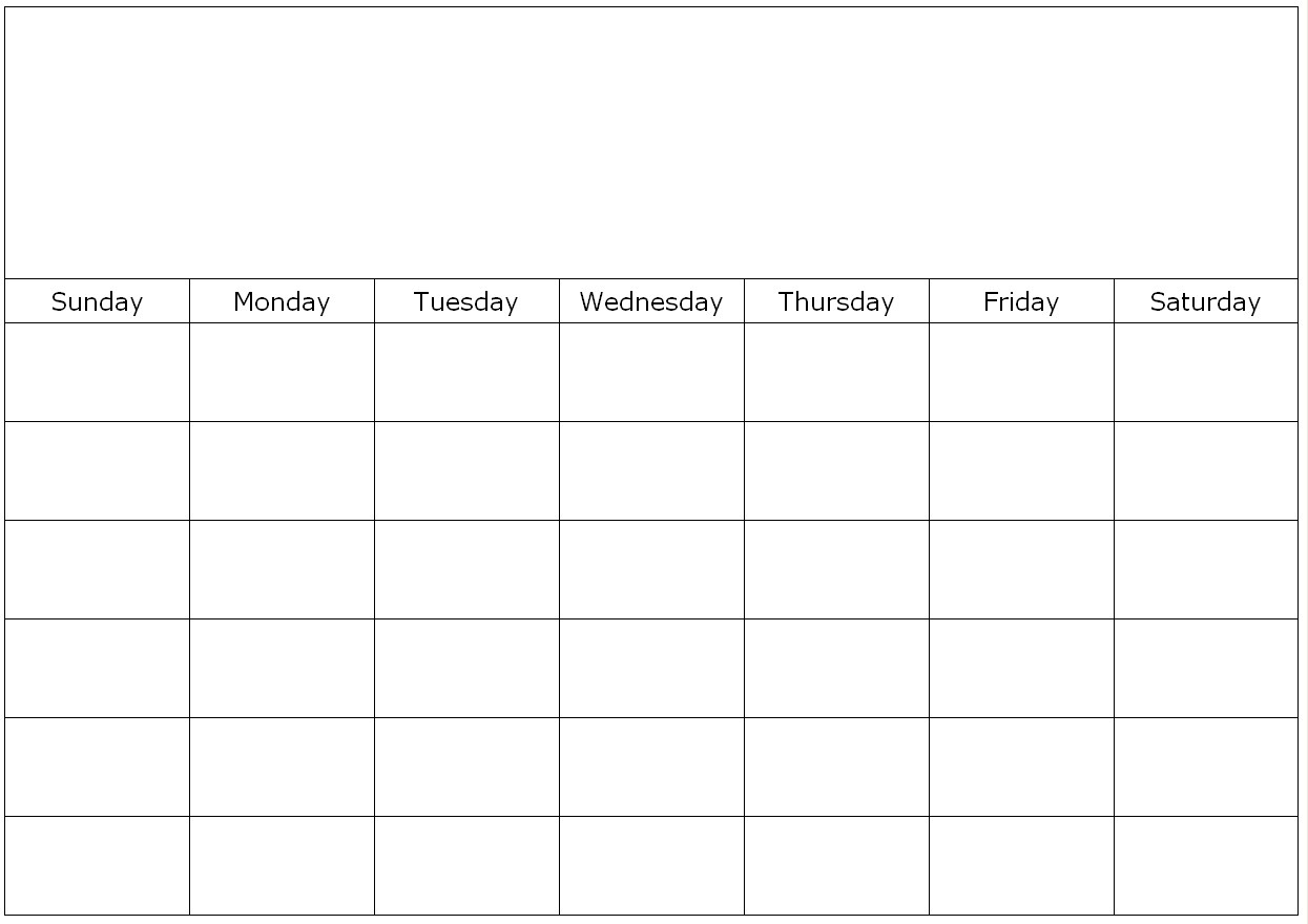 Monthly Blank Calendar Page To Fill In Blank Calendar Monday Friday