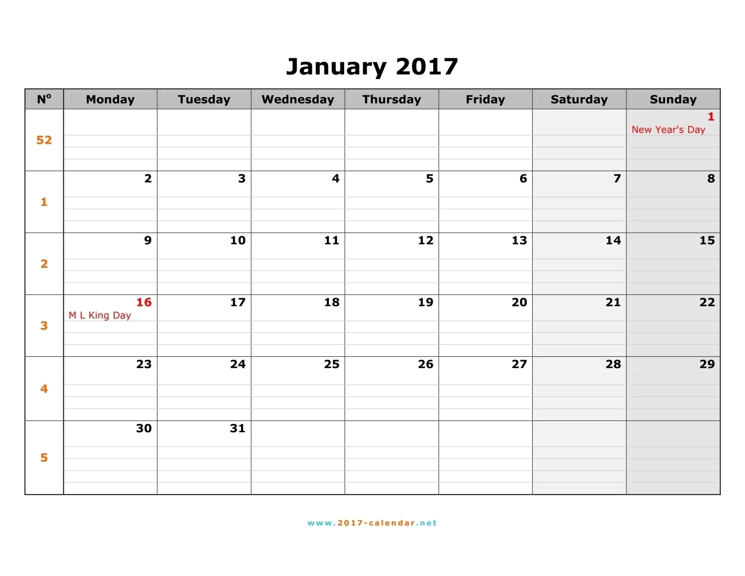 Monthly Calendar Starting With Monday – Printable Month Calendar Monthly Calendar Starts On Monday