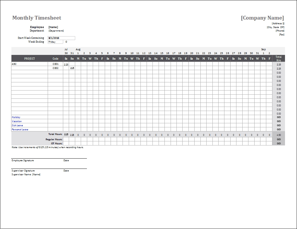 Monthly Timesheet Template For Excel And Google Sheets Vertex42 Calendar Template For Excel