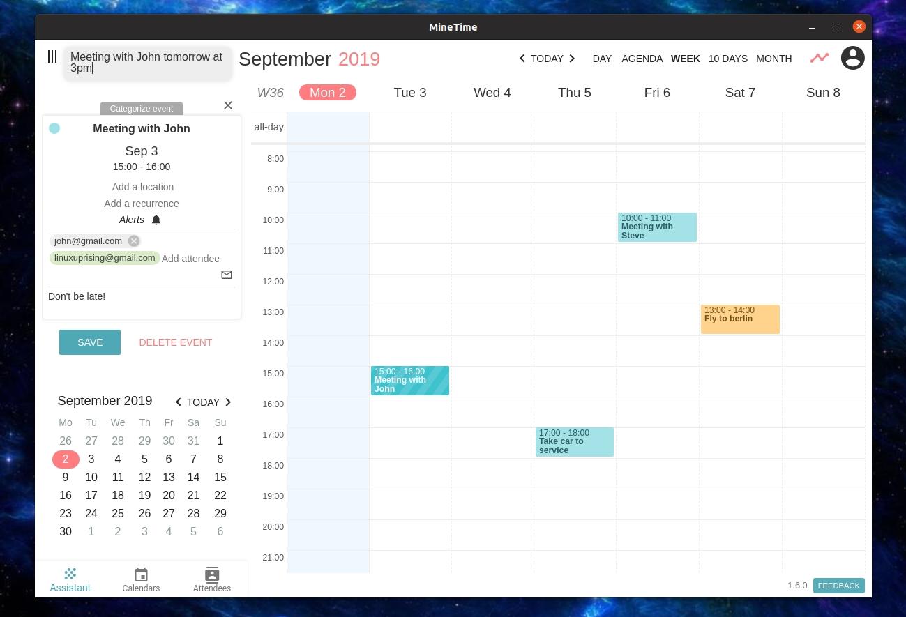 Multi-Calendar Desktop App Minetime 1.6.0 Adds New Impressive How To Download Zurich Calendar