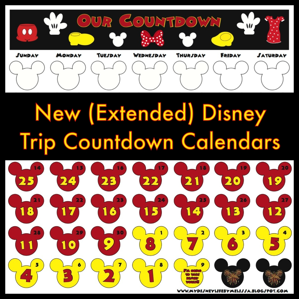 My Disney Life: New Extended Countdown Calendar With Room Printable Disney Countdown To 60 Calendar