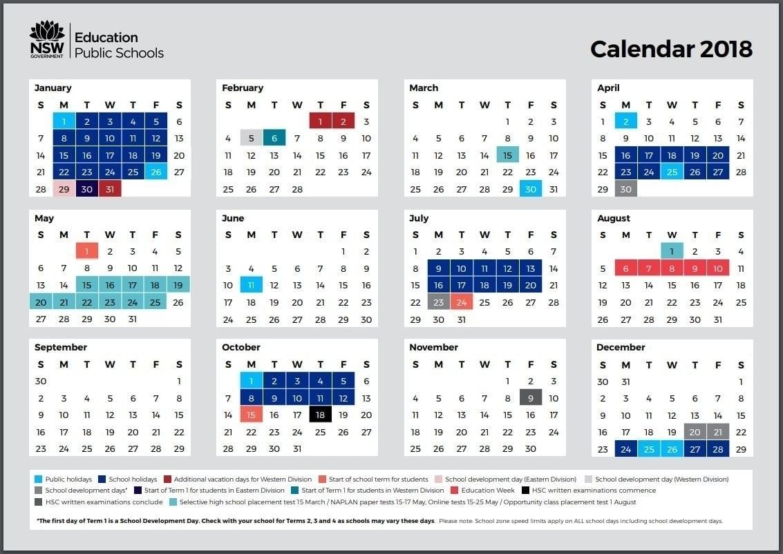 Nsw 2020 Printable Calendar | Month Yearly Calendar-2020 Remarkable Nsw Calendar 2020 Free Printable