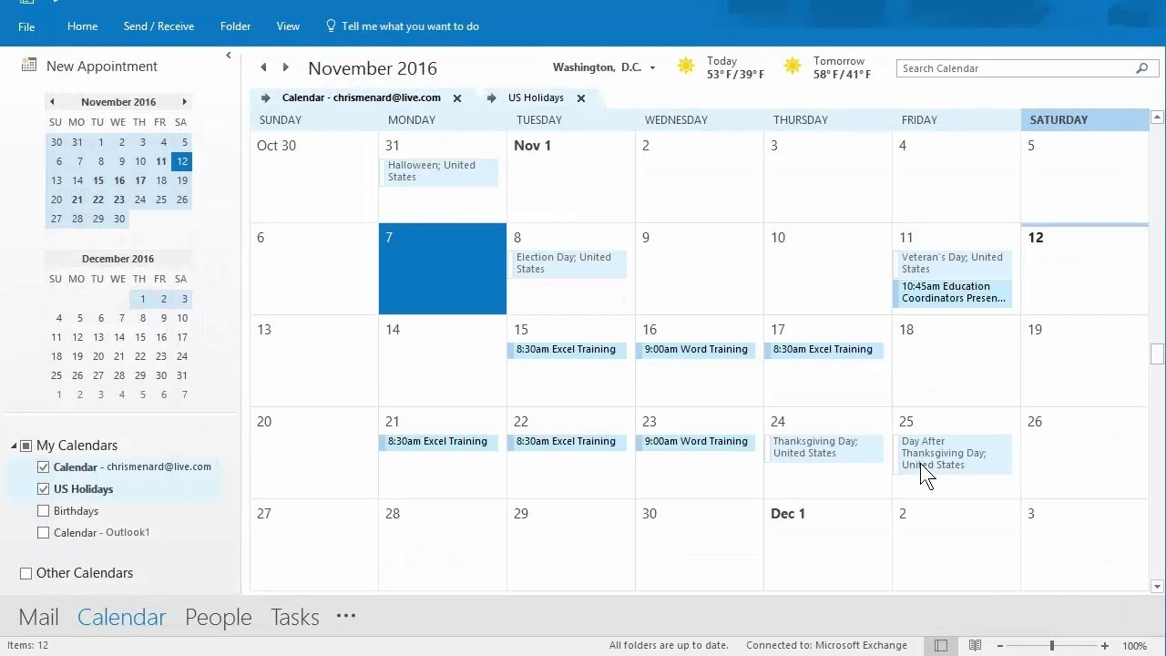 Outlook Calendar Priniting Assistant - 11/12/2016 - Troubleshooting By  Chris Menard Office 365 Calendar Printing Assistant