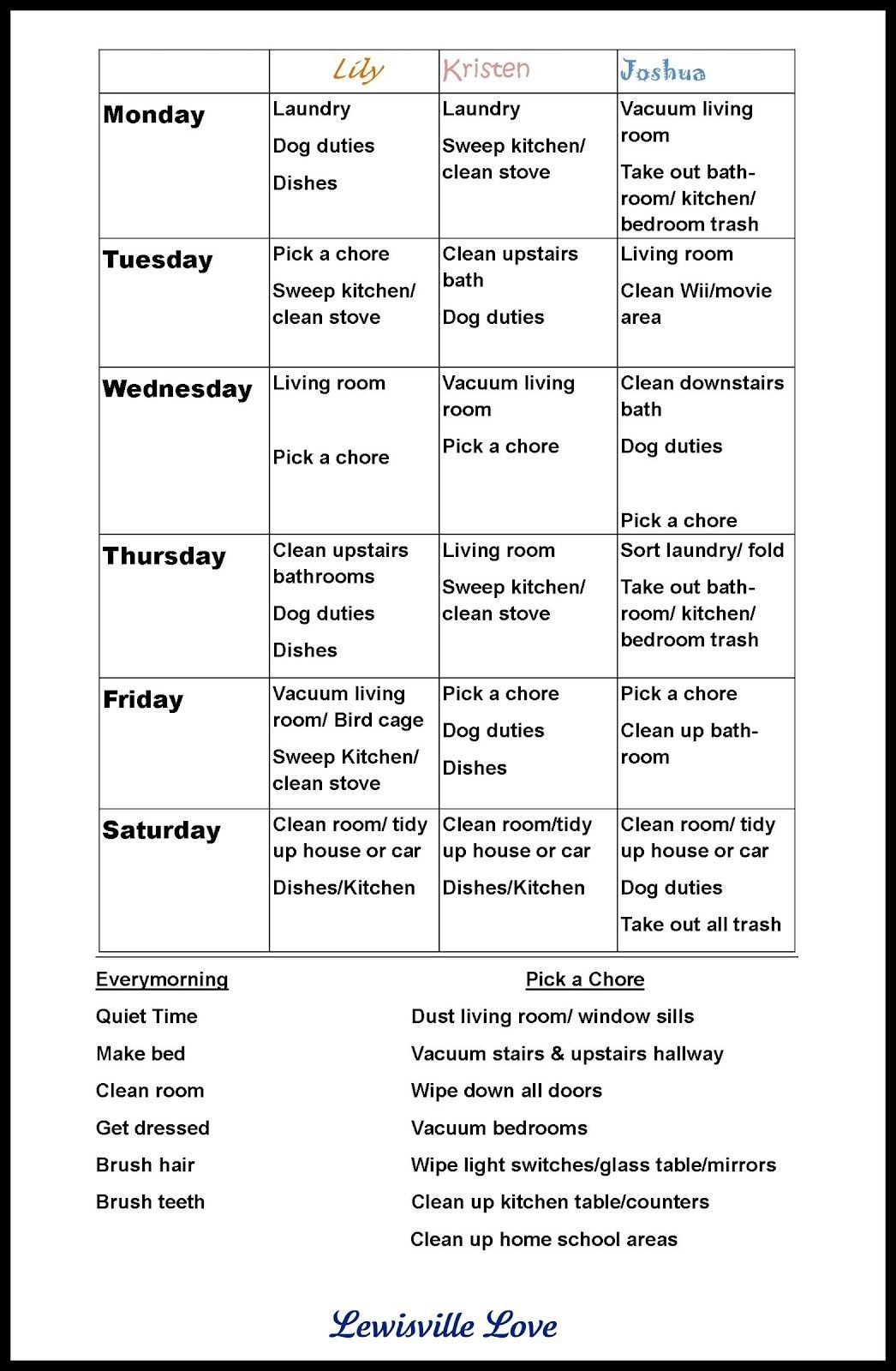 Pin On For The Home Monthly Behaviour Chart For Preteens