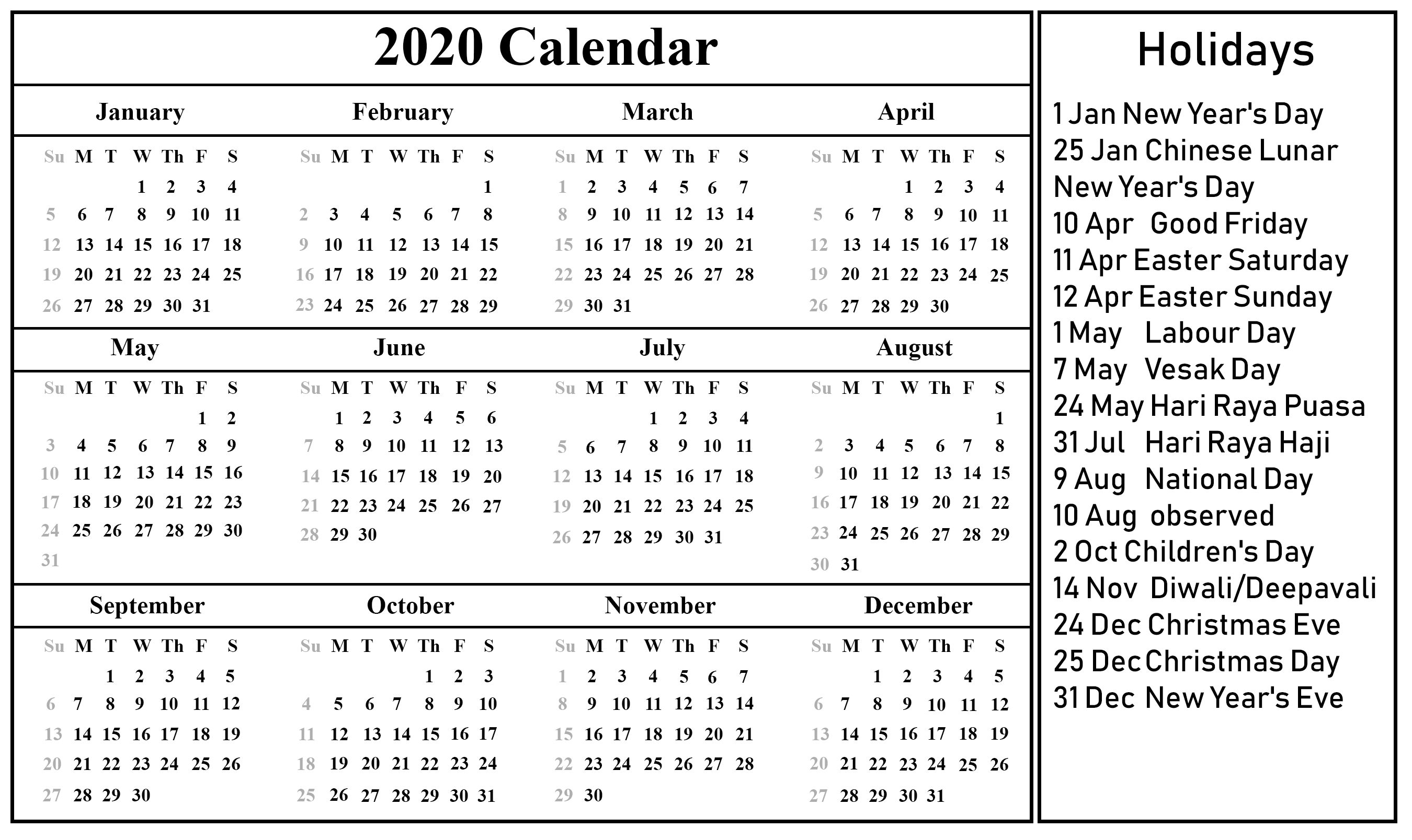 Printable April Calendar Template 2020 Calendar Holidays Sri Lanka