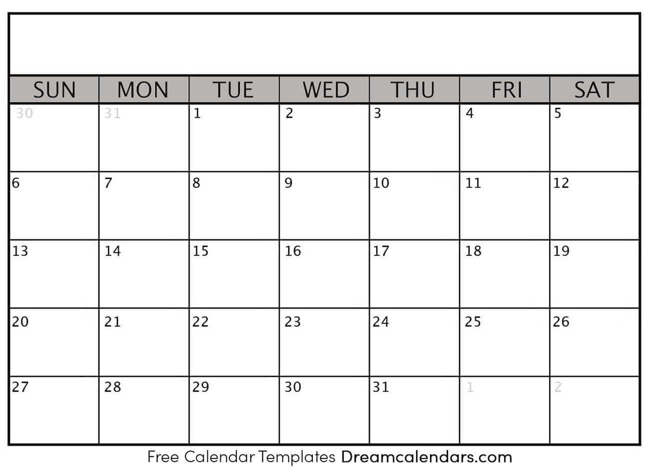 Printable Blank Calendar 2020 | Dream Calendars Exceptional Free Very Large Squares Blank Printable Calendar 2020 Monthly