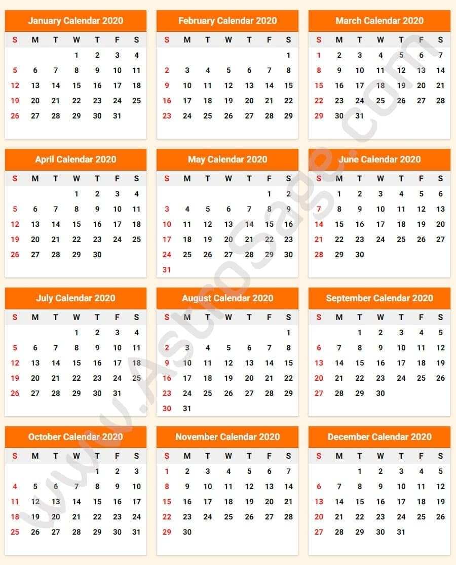 Printable Calendar 2020 With Holidays - Download Free Incredible 2020 Printable Calendars Including Holidays And Jewish Holidays