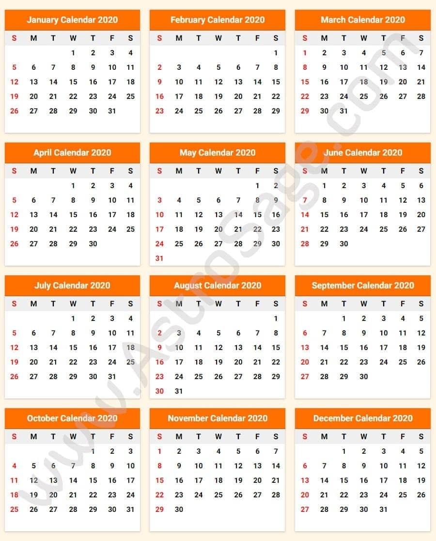 Printable Calendar 2020 With Holidays - Download Free Incredible Printable Chinese Lunar Calendar 2020
