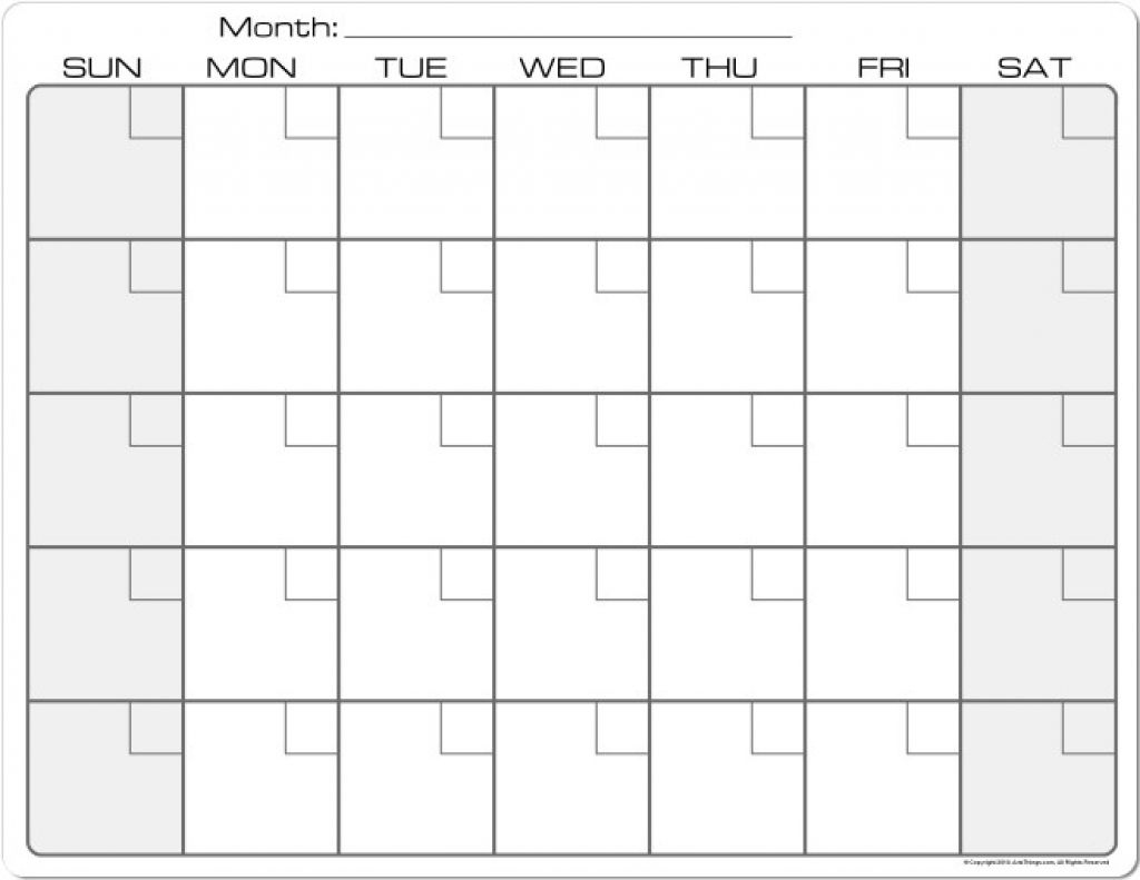 Printable Calendar 8 X 11 | Printable Calendar 2019-Blank 8.5 X 11 Printable Calendars