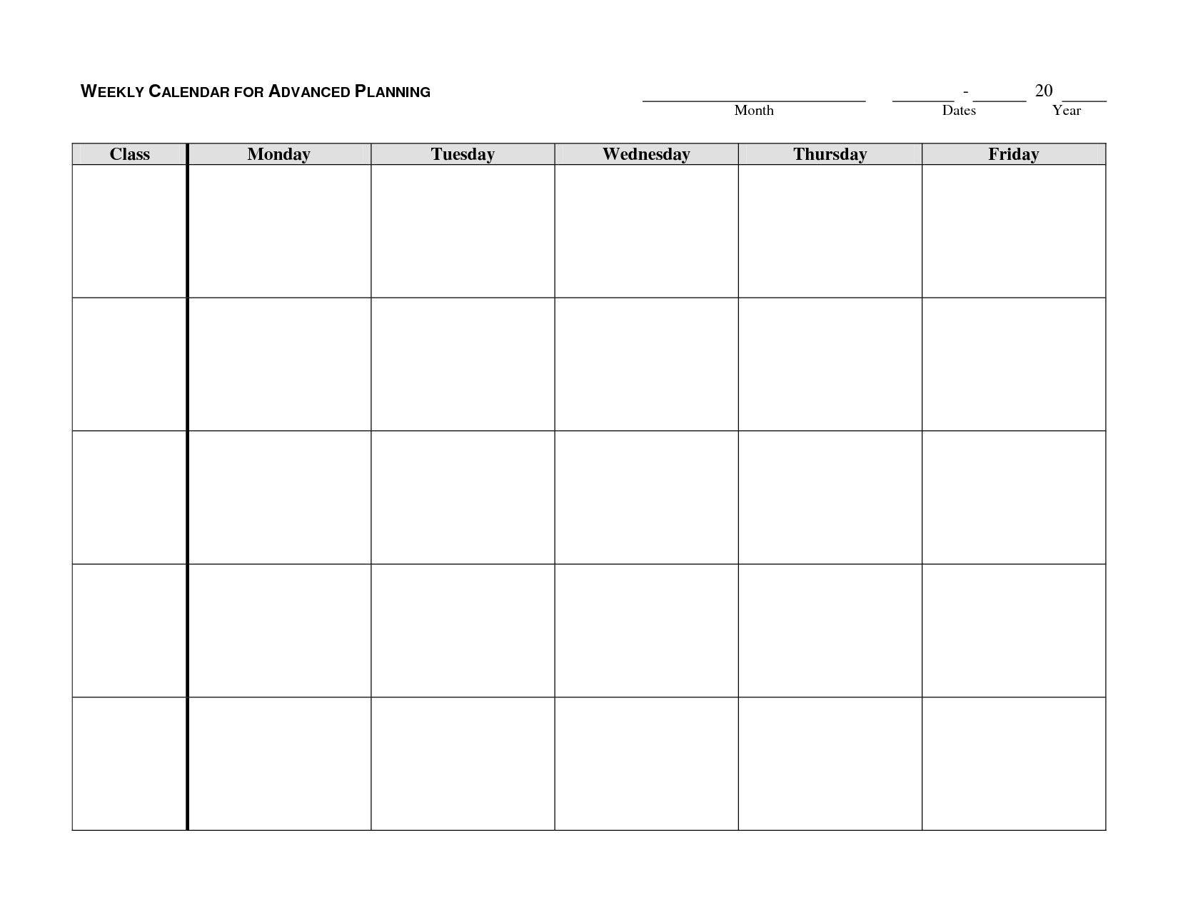 Printable Calendar Monday Through Friday - Yolar.cinetonic Blank Calendar Monday To Friday