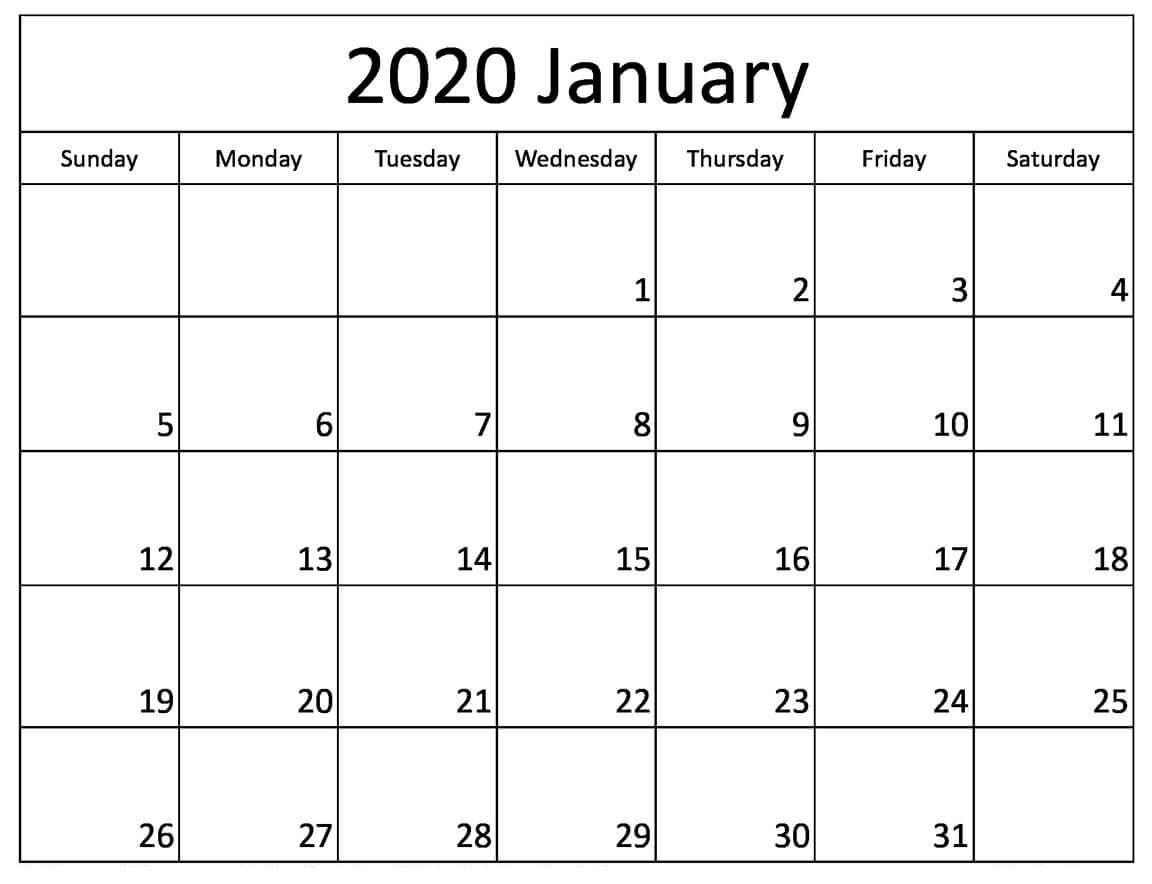 Printable January 2020 Calendar Australia With Holidays Printable Monthly Calendar 2020 Australia With School Holidays